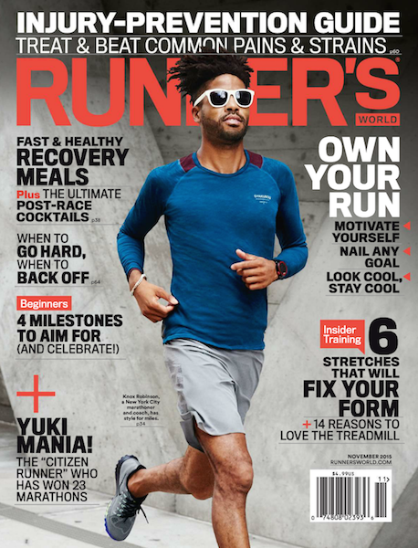 Runner's World Nov Cover