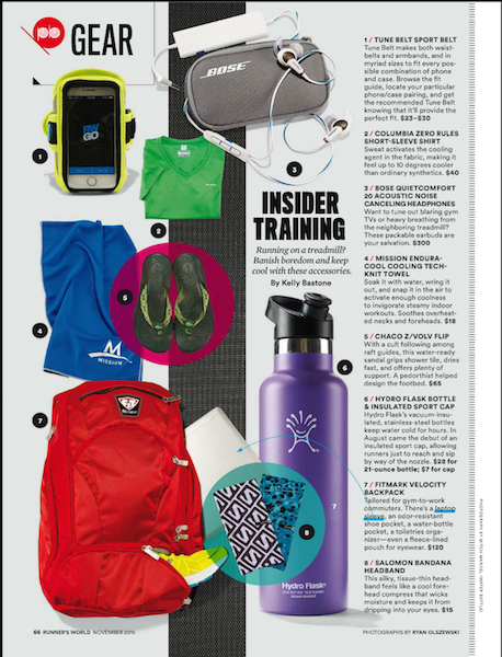 Runner's World Nov_Sport Cap page